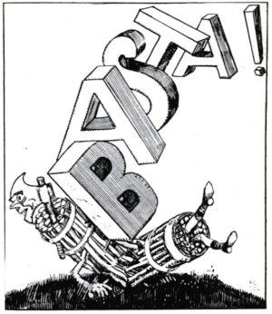 Gabriele_Galantara,_La_voce_del_paese,_Basta_al_fascismo!,_1924
