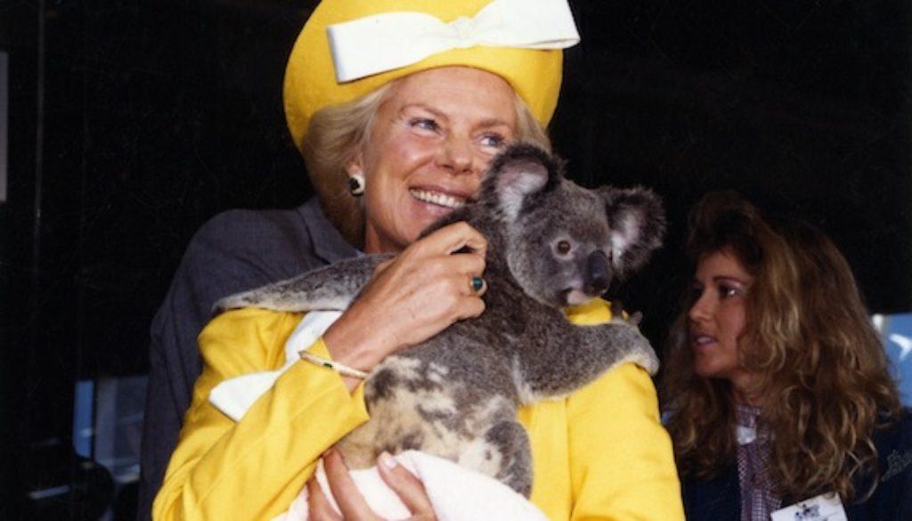 duchess of kent with koala