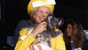 duchess of kent with koala