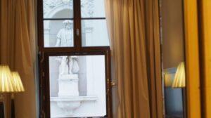 hotel room window
