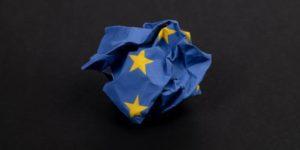 screwed up eu flag