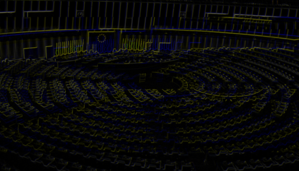 European_Parliament_empty_plenary_Strasbourg_neon-glitch