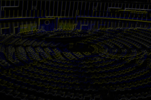 European_Parliament_empty_plenary_Strasbourg_neon-glitch