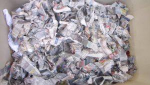 newspaper shreds crop