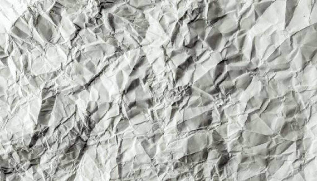 crumpled paper blank